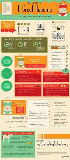 The Anatomy Of A Great Resume #graphic design #infographic