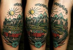 Natali LitvinenkoKINGDOM TATTOOkiev #trip #van #mountains #road