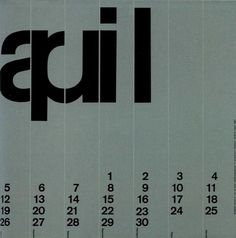 All sizes | Wim Crouwel | Flickr - Photo Sharing! #calendars