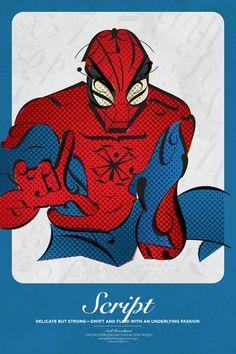 Superhero Typographic Posters #poster