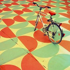 Untitled | Flickr - Photo Sharing! #pattern #berlin #bike #floor