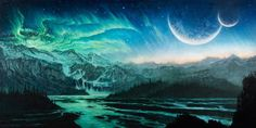 Nick Keller: Damn the Sky! #nick #album #beast #wars #cover #record #illustration #keller #canvas #cd #oil