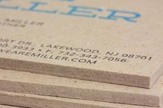 Miller Creative Business Cards #edge #business #card #letterpress #printing