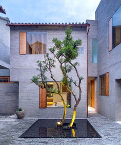 zhaoyang architects designed this boutique hotel as a hidden urban oasis in china