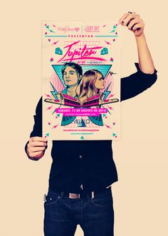 Jupiter Poster on Behance #fluo #set #dj #80s #poster