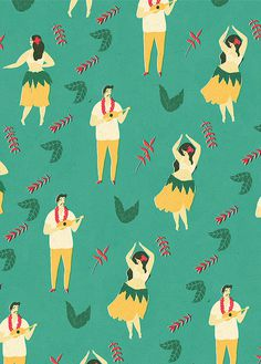 Lagom Wrapping Paper by Naomi Wilkinson #illustration #dance #pattern