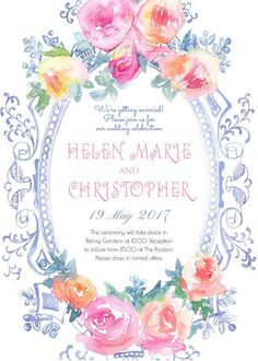 Vintage Mirror - Wedding Invitations #paperlust #weddinginvitation #weddingstationery #weddinginspiration #design #paper #cards #print #dig