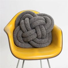 Home Furnishings | Design Milk - Page 3 #knot #pillow #yellow #grey