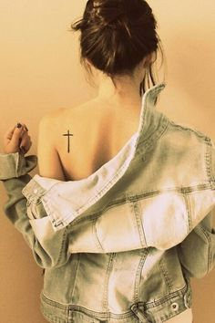 50+ Cute Small Tattoos #cross #tattoo #mall