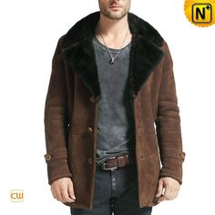Leather Sheepskin Coat Men CW877039 #sheepskin #men #coat