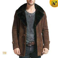 Leather Sheepskin Coat Men CW877039