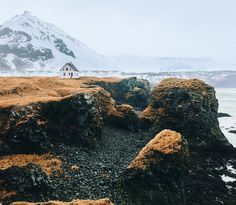 Icelandic beach house