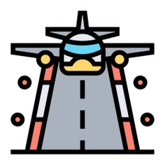 See more icon inspiration related to airport, plane, aeroplane arriving, arrival, landing, transportation, flight, aeroplane, airplane, travel and transport on Flaticon.