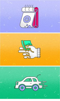 Drive-thru illustration set via Patrick Iadanza #fast #food #money #car