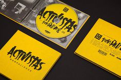 Activistas CD Packaging #lettering #branding #packaging #hand #cd