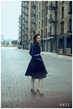 Marion Cotillard photographed by Peter Lindbergh for Vogue, August 2012 #photography