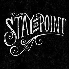 Stay-On-Point copy by Rob Draper #tipografia #handmade #typography