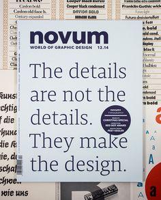 novum, magazine, cover, type, typography, details, serif, gebrauchsgraphik,