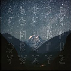 Celestial Night on Typography Served #typography