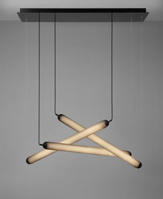 Tubular Puro Suspension Lamps in Hand-Blown Glass by Brokis - InteriorZine