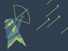 Archer Javier Garcia #archer #illustration #geometry