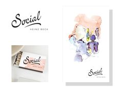 Identity for Social, Waldorf Astoria, The Palm, Dubai, UAE #handwritten #logo #identity #restaurant