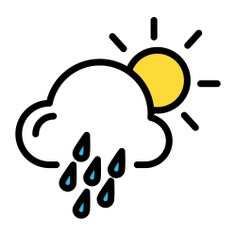 See more icon inspiration related to forecast, rain, weather, sun, drizzle, climate, meteorology and cloud on Flaticon.