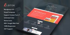 Mobile App Landing Page Wordpress Themes