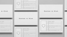 Porter & Plot — DIA — Strategy | Branding | Design | Motion #cards #branding #stationery