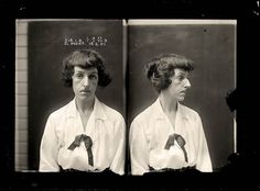 Portraits de criminels australiens dans les années 1920 | La boite verte #photography #crime #portrait