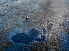 Oil Spill #4 Oil Skimming Boat, Near Ground Zero, Gulf of Mexico, June 24, 2010
