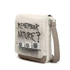 #remember nature #concrete #bag #messenger #shoulderbag #nature #begley #airconditioning... #climate #globalwarming #streetart