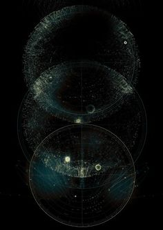 CHAOS AND STRUCTURE on the Behance Network #infographics #space #data #constellations #chaos
