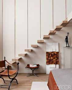 A Modern Paris Apartment | Miss Design #design #interior #apartment #stairs #paris