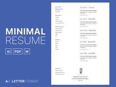 Free Simple CV Set Template in Multiple Format