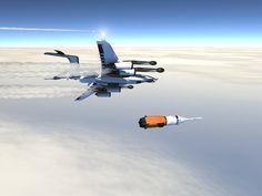 "XGV-A ""Orbiter"" & NASA Orion CM #innovation #aircraft #space #concept #future"