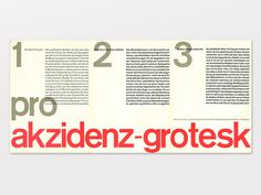 Display | Berthold Akzidenz Grotesk Type Speciman | Collection #typography