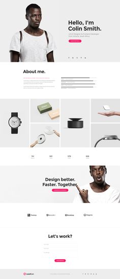 LeadGen Marketing Landing Page - Personal Resume, buy - https://goo.gl/KD0bMP