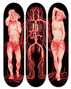 Google Image Result for http://www.jamesjean.com/blog_detail/CA5DC2_detail.JPG #james #triptych #skateboards #jean