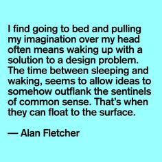 Alen Fletcher #quote #designer
