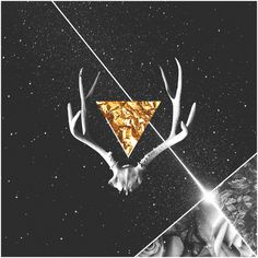 trapped in a prism. #antlers #album #space #gold #art #collage #prism