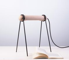 123 lamp by Federico Floriani #lamp #design #table #wood #industrial #lighting #light #italy