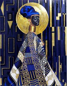 Lina Iris Viktor Gold Self-Portrait Paintings | Trendland