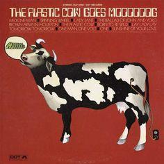 giith_plasticcow.jpg 600×600 pixels #album #design #cow #cover #mod #groovy #moog