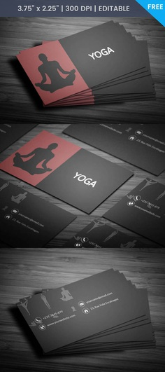 Free Yoga Visiting Card Template