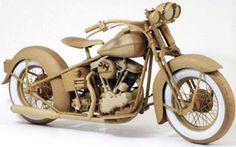 Chris Gilmour #paper #motorcycle #cardboard