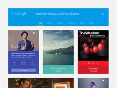 Material Design UI Kit PSD Free Download #ui