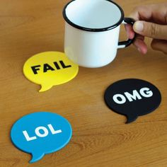 Chat Coasters From Meninos #coasters #gadget #home
