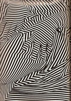 Reblololo  this isn't happiness.™ #fashion #black and white #pattern #lines #figure #psychedelic