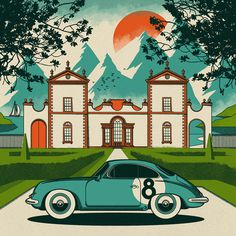 Scooter.jpg #inspiration #illustration #porsche #japan